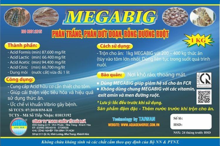 Megabig (axit hữu cơ, diệt vi khuẩn có hại trong đường ruột)