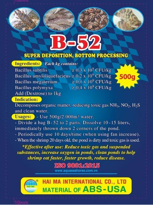 B-52 (vi sinh siêu lắng, xử lý đáy và nước bẩn)
